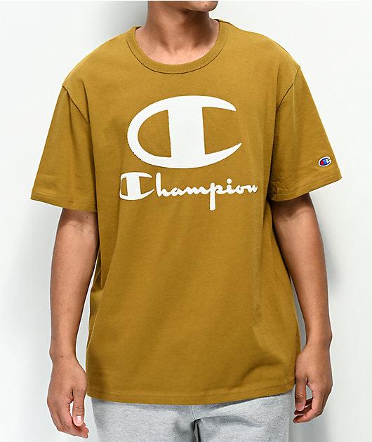Champion Furry Logo camiseta dorada