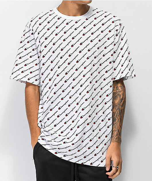 Champion Heritage All Over Print White T-Shirt