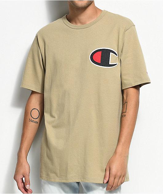 Champion Heritage Big C Khaki T-Shirt