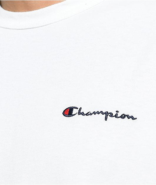 Champion Heritage Embroidered Script camiseta blanca