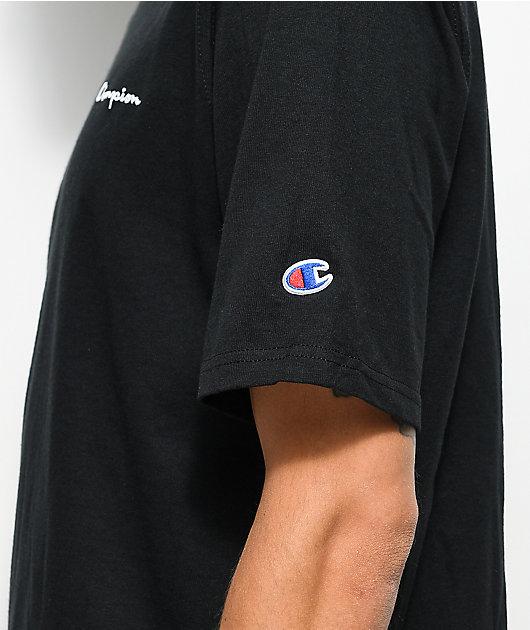 Champion Heritage Embroidered Script camiseta negra