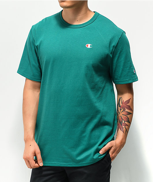 Champion Heritage Embroidered Teal T-Shirt