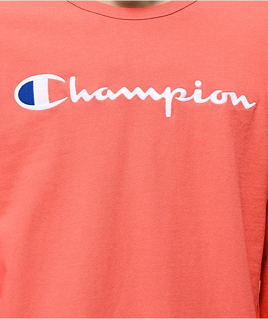 Champion Heritage Groovy Papaya Long Sleeve T-Shirt