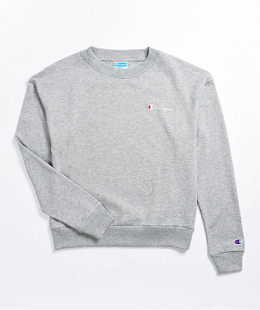 Champion Heritage Heather Grey Crew Neck Sweatshirt