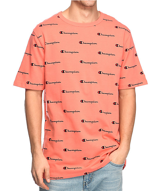 Champion Heritage Logo Peach T-Shirt