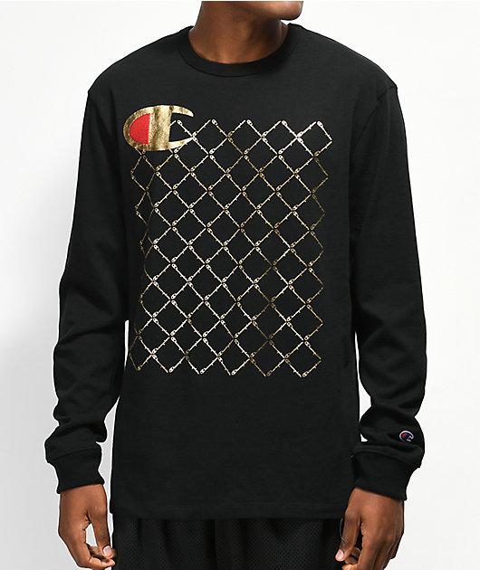 Champion Heritage Quilt Black Long Sleeve T-Shirt