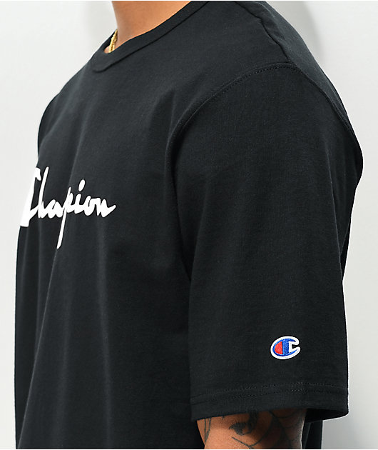 Champion Heritage Script Black & Red T-Shirt