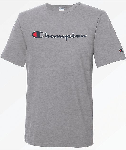 Champion Heritage Script Oxford Grey T-Shirt