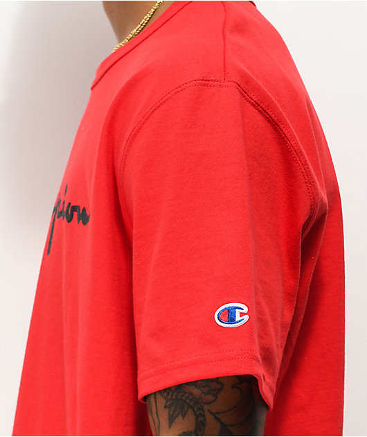 Champion Heritage Script Red T-Shirt