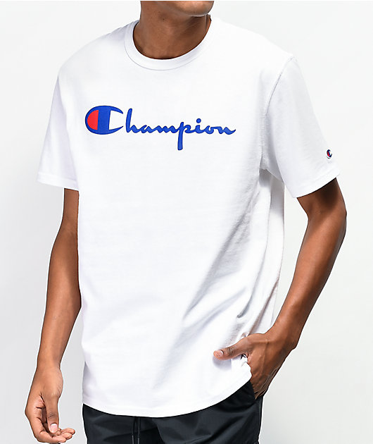 Champion Heritage Script White T-Shirt