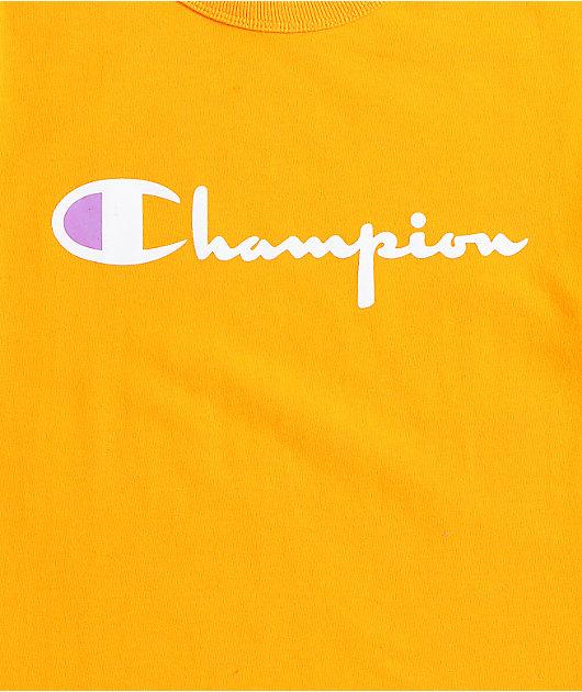 Champion Heritage Script camiseta dorada