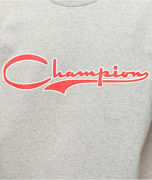 Champion Heritage Vintage Script Oxford Grey T-Shirt