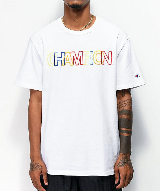 Champion Heritage camiseta multicolor y blanca