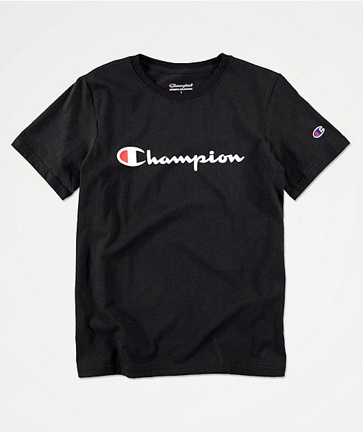 Champion Heritage camiseta negra para niños