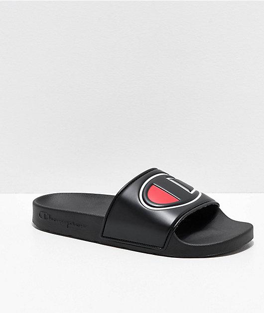 Champion IPO Black Slide Sandals
