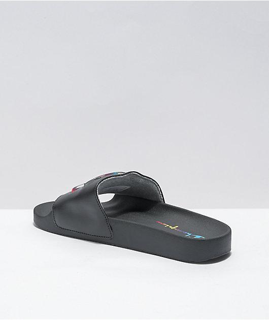 Champion IPO Jelly Black & Multicolored Slide Sandals