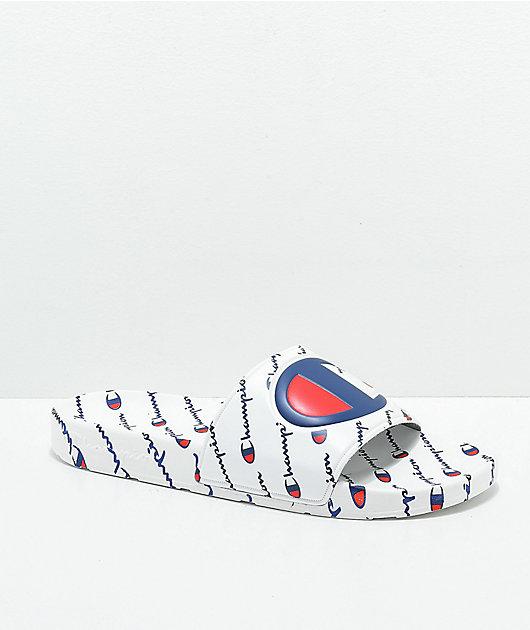 Champion IPO Repeat White Slide Sandals