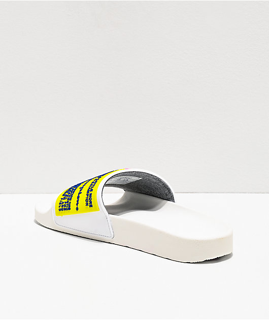 Champion IPO White & Neon Pink Slide Sandals
