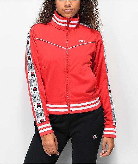 Champion Jocktag chaqueta de chándal corta roja