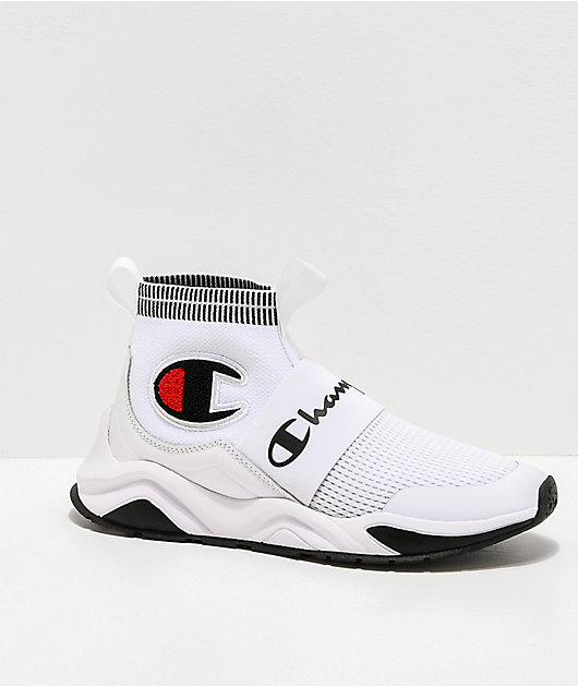 Champion Kids Rally Pro White & Black Shoes