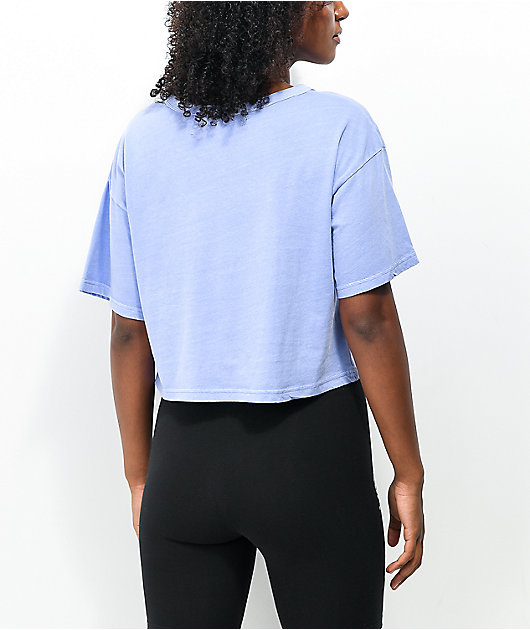 Champion Lightweight Charm Blue Crop T-Shirt