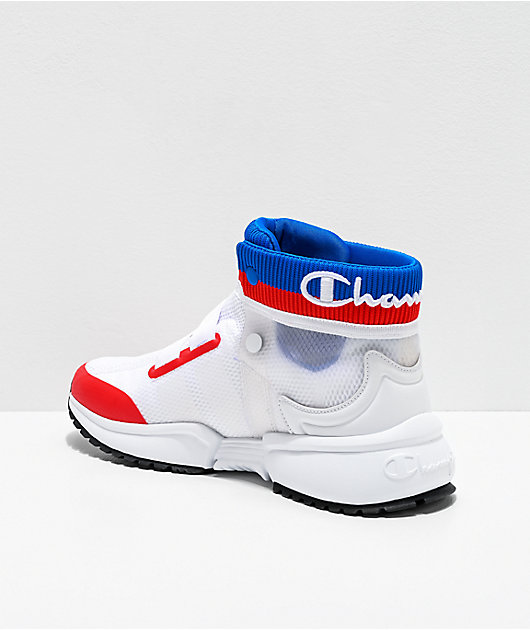 Champion Men's Rally Future White, Blue & Red Shoes