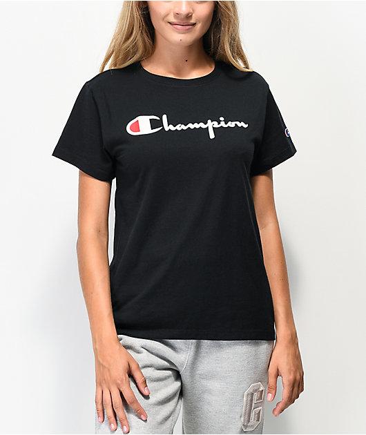 Champion OG Direct Flock Black T-Shirt