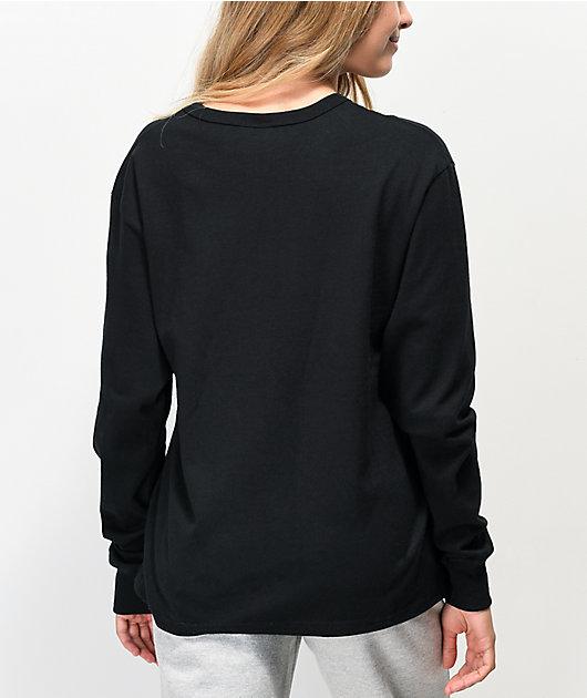Champion OG Flock Black Long Sleeve T-Shirt