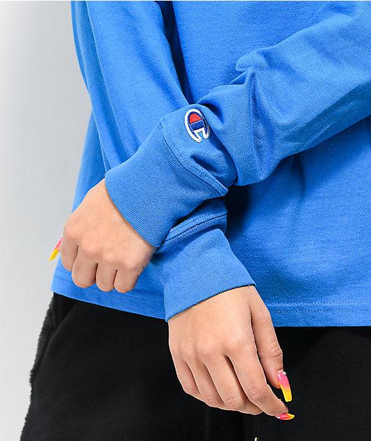 Champion OG Flock Blue Long Sleeve T-Shirt