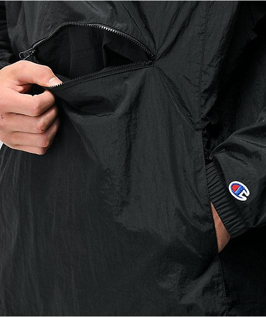 Champion Packable Black & White Anorak Jacket
