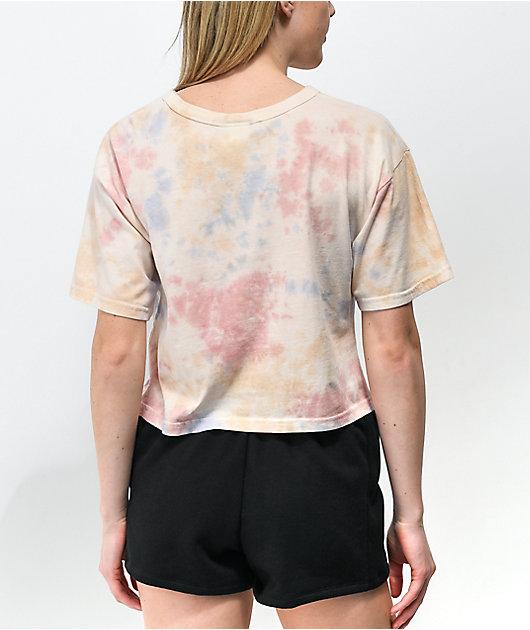 Champion Pink, Blue & Orange Sun Wash Crop T-Shirt