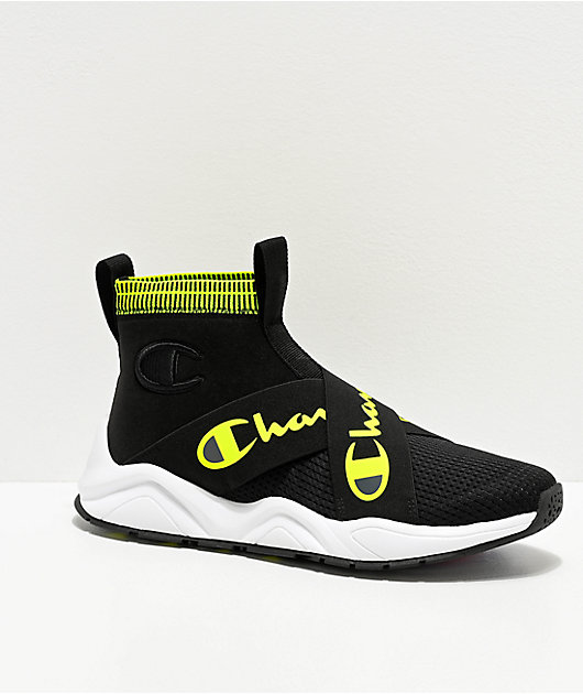 Champion Rally Crossover Black & Neon Light Shoes