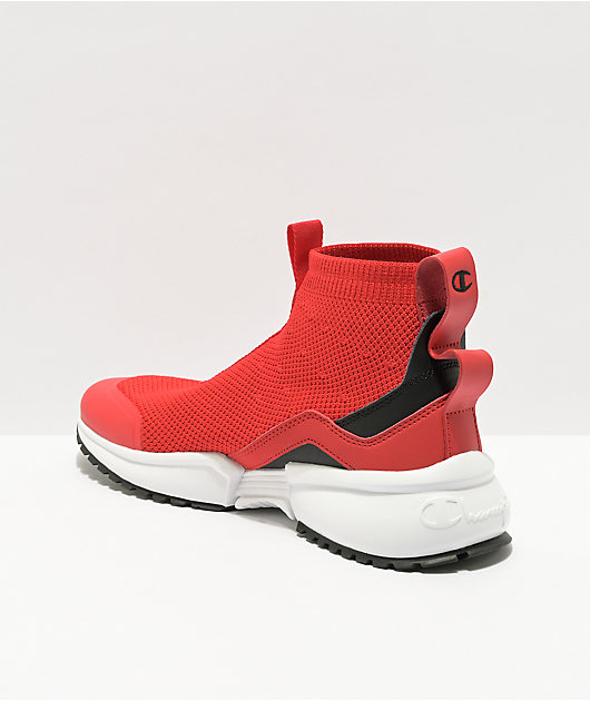 Champion Rally Flux Mid Scarlet Red Shoes