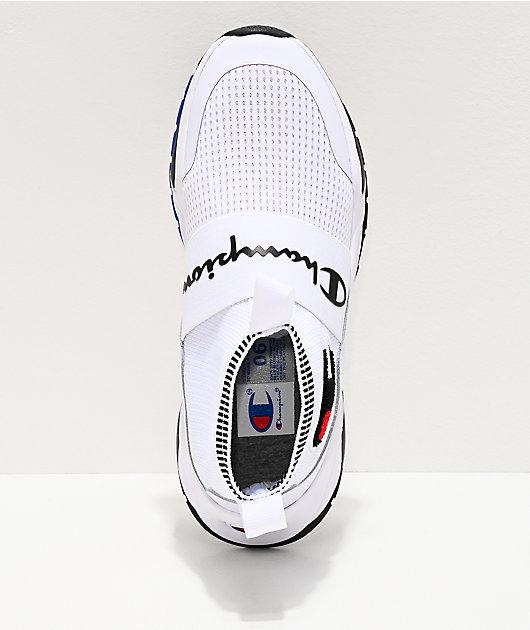 Champion Rally Pro zapatos blancos y negros para niños