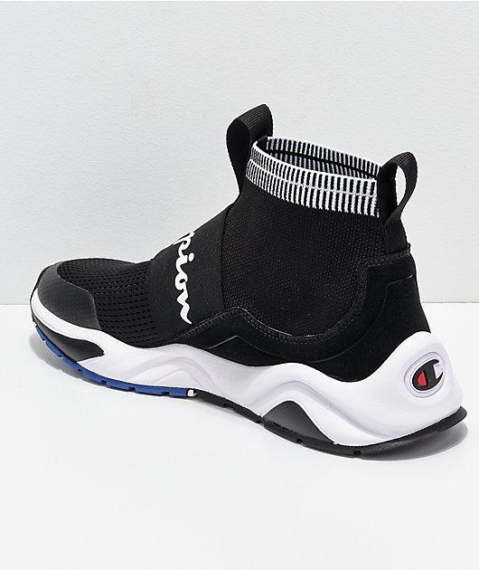 Champion Rally Pro zapatos negros y blancos para hombres