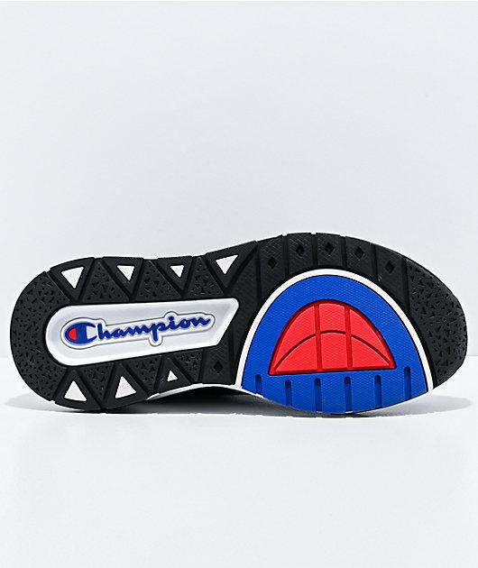 Champion Rally Script zapatos negros y blancos
