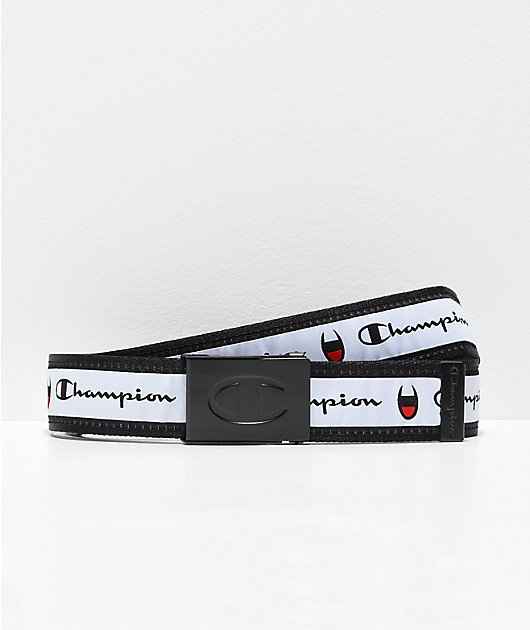 Champion Red, White & Black Web Belt
