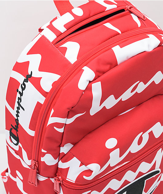 Champion Red Supercize All Over Print Backpack