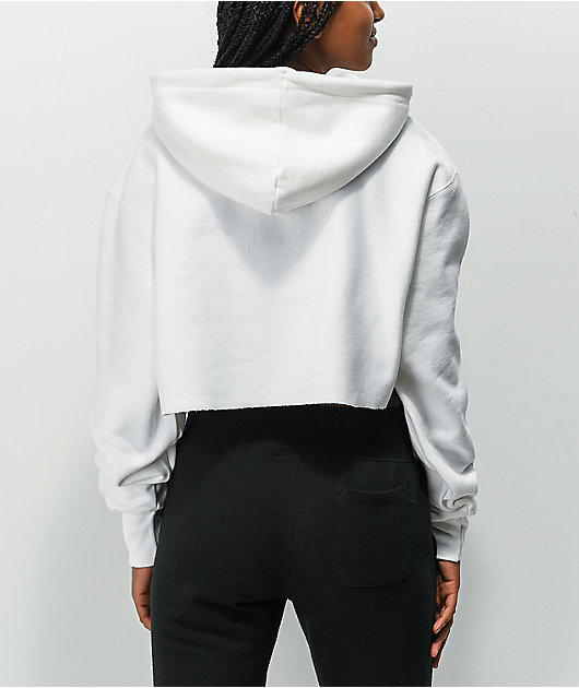 Champion Reverse Weave 3C White Crop Hoodie