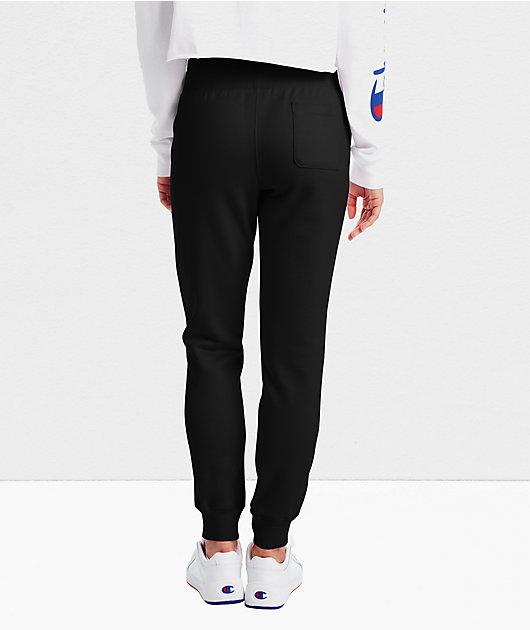 Champion Reverse Weave Black Jogger Sweatpants