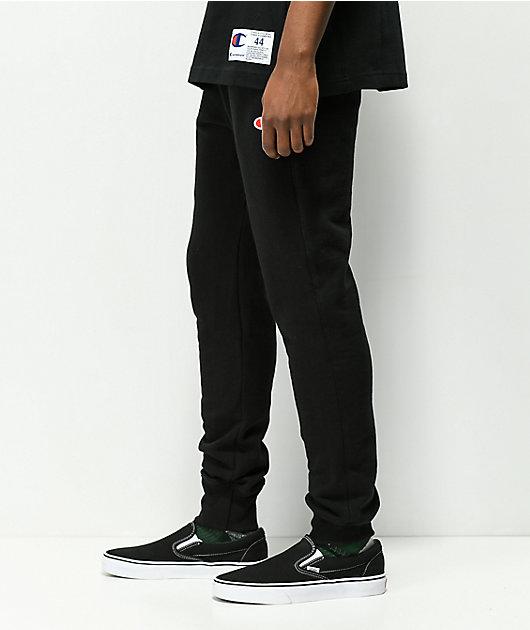 Champion Reverse Weave Black Joggers Sweatpants
