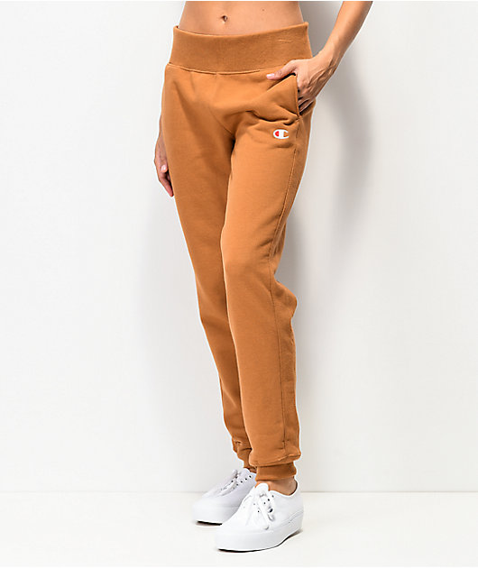 Champion Reverse Weave Brown Sepia Jogger Sweatpants