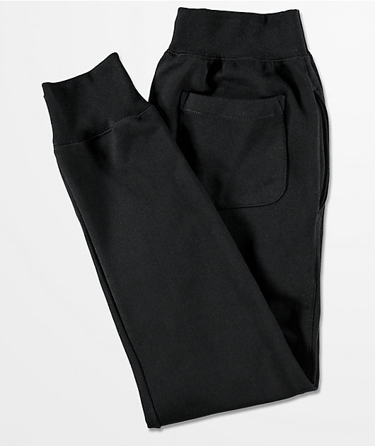 Champion Reverse Weave C Logo Black Jogger Pants