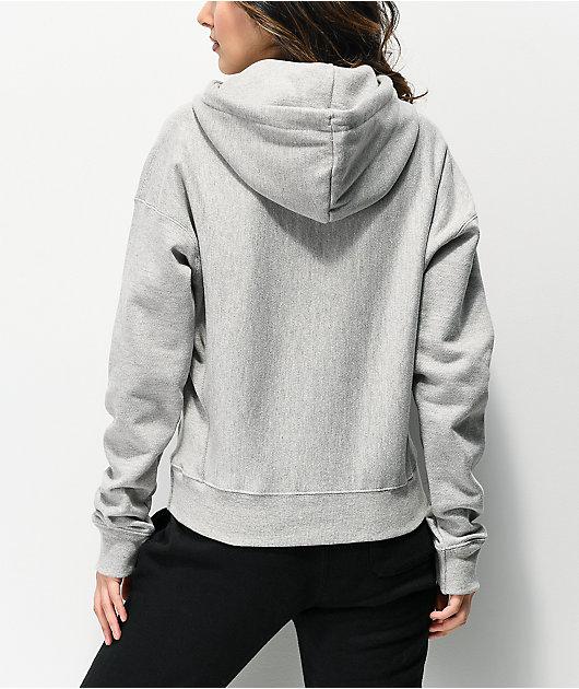 Champion Reverse Weave C Logo Oxford Grey Hoodie