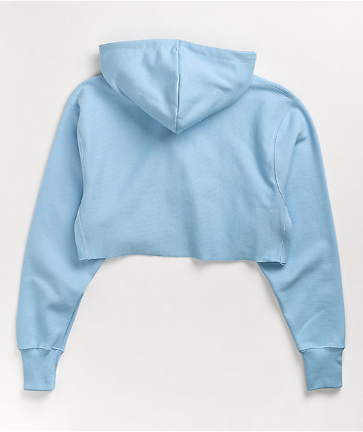 Champion Reverse Weave Candid Blue Crop Hoodie