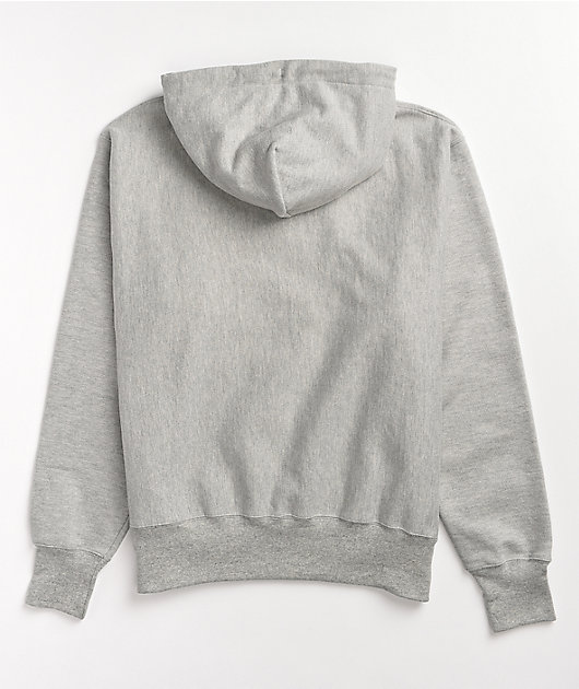Champion Reverse Weave Felt Applique Grey Hoodie
