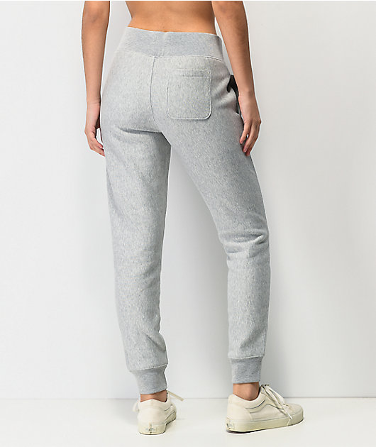 Champion Reverse Weave Flock Grey Jogger Sweatpants
