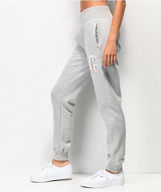 Champion Reverse Weave Floss Stitch C Grey Jogger Sweatpants