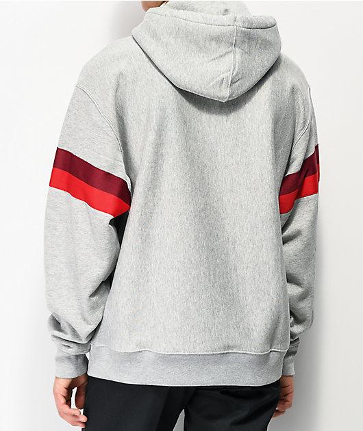 Champion Reverse Weave Half Zip Grey Hoodie