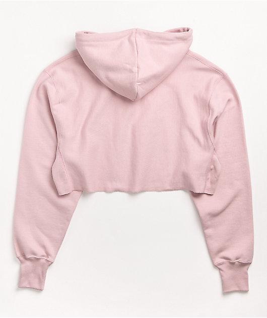 Champion Reverse Weave Hush Pink Crop Hoodie